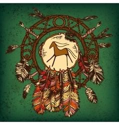 Native american indian dream catcher vector