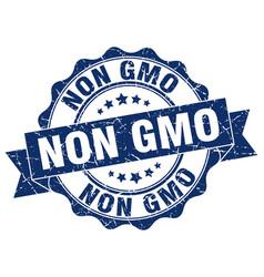 Non gmo stamp sign seal vector