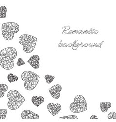 openwork hearts on a white background vector image