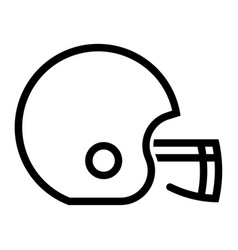 outline beautiful rugby helmet icon vector image