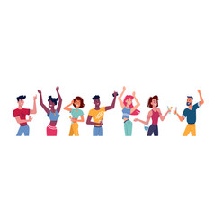 people dance at party happy flat person at disco vector image