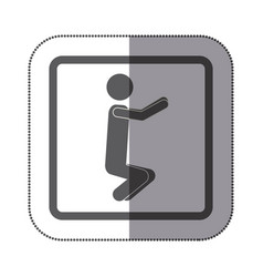 person doing squats icon vector image