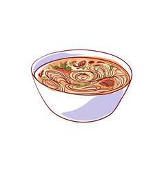 Ramen soup isolated icon vector