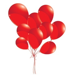 Red balloons isolated on white background Red vector image
