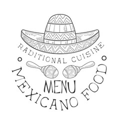 restaurant traditional mexican cuisine food menu vector image