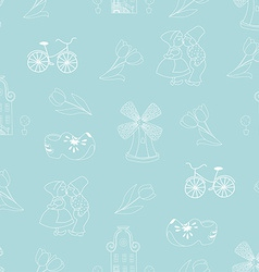 Seamless pattern with Dutch ornaments vector