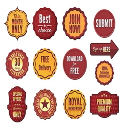 set badges and stickers vector image