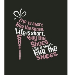 shoe from quote vector image