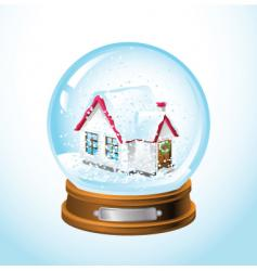 snow globe home vector image