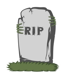 Spooky tombstone vector image