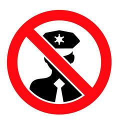 Stop policeman - icon vector