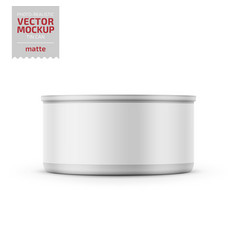 Tuna can with label on white background vector
