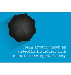 Umbrella Quote vector image
