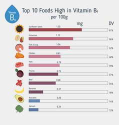 Vitamin b6 or pyridoxine infographic vitamin b6 vector