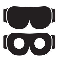 Vr headset or virtual reality headset flat icon vector