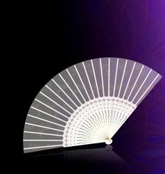 White-golden fan vector