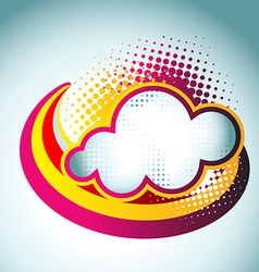 colorful cloud vector image vector image
