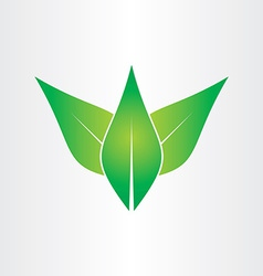 green leaves eco concept icon design vector image vector image