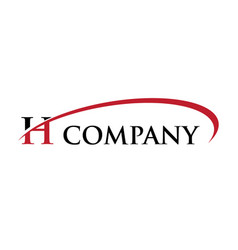 h letter swoosh logo vector image vector image