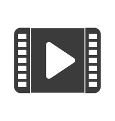 Play video and movie isolated icon design vector image vector image