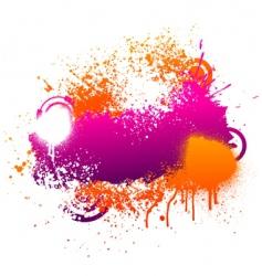 purple and orange paint splatter vector image