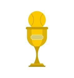 Baseball trophy flat icon vector image
