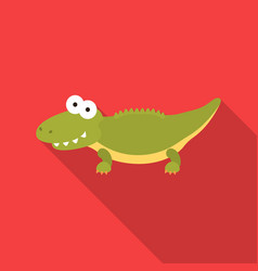 crocodile flat icon for web and vector image