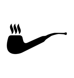 smoking pipe vector image vector image