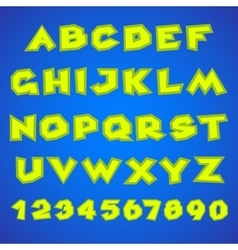 Decorative alphabet Simple bold vector image vector image