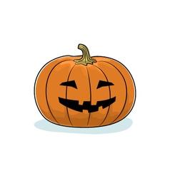 Halloween Grinning Pumpkin vector image vector image
