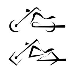 Motorbike symbols set vector