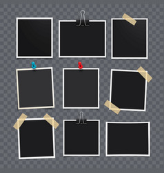photo frameset of realistic paper vector image vector image