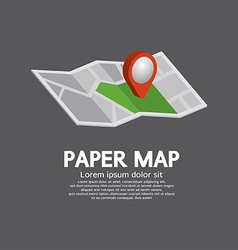 Pin On Paper Map vector image