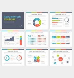 Set of Presentation Template Infographic elements vector image