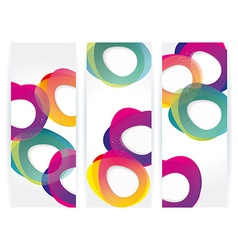 banners with abstract multicolored background vector image