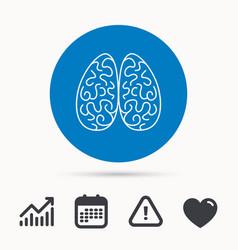 neurology icon human brain sign vector image