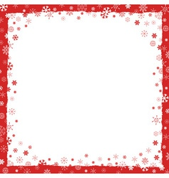 New Year Christmas background with snowflakes vector image vector image