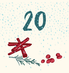 page advent calendar 25 days of christmas with vector image vector image