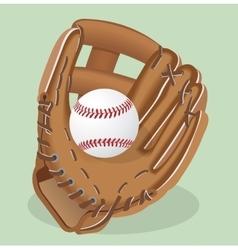 realistic Baseball glove and vector image