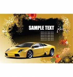 sport car with background vector image vector image