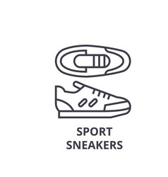 sport sneakers line icon outline sign linear vector image