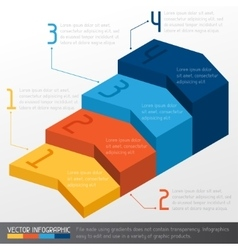 Template business infographic with arrow 3d design vector image