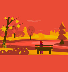 autumn scene vector image