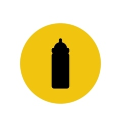 Baby bottle silhouette vector image