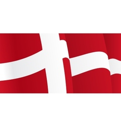 Background with waving Danish Flag vector