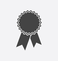 badge with ribbon icon in flat style on white vector image