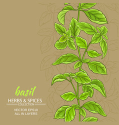 basil background vector image