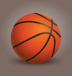Basketball ball isolated on background realistic vector