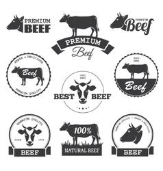 Beef labels vector
