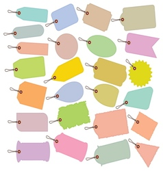 Big price tag collection vector image